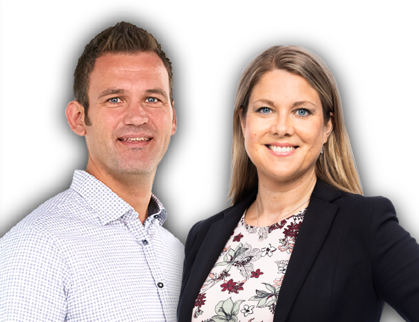 Henrik Sandström, Senior Account Manager, Simployer och Victoria Ödlund, HR-expert, Simployer's photo